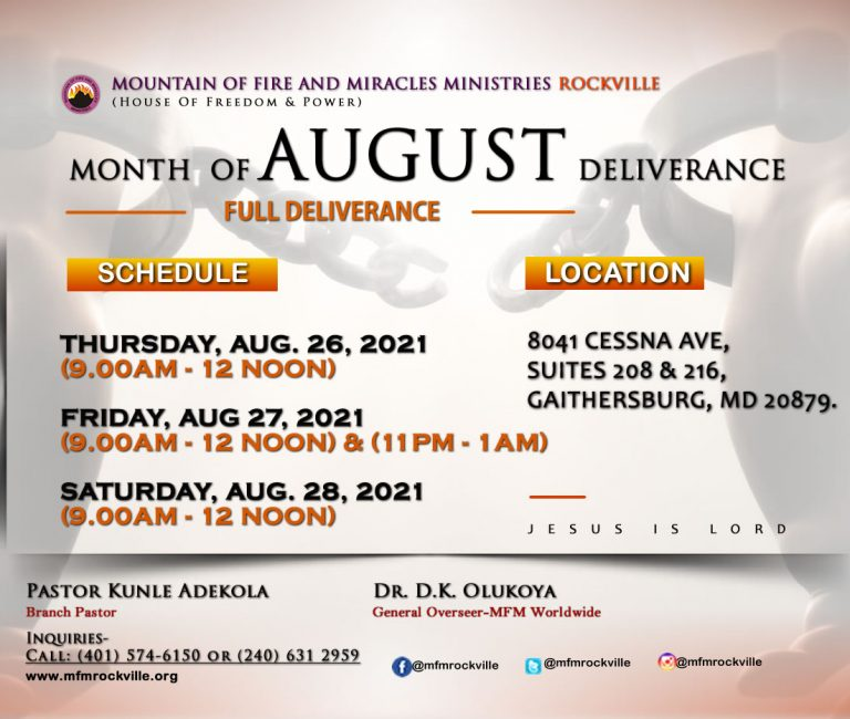 Monthly Deliverance